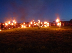 fire skills and procession returning